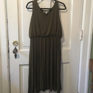 LOFT Olive Sleeveless Dress